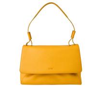 """Handtasche """"Fantastic 7"""", echtes Leder, Färbung, Gelb"""