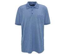 Poloshirt, Brusttasche, Blau