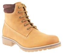 Boots, Leder, gepolsterter Einstieg, Profilsohle, gefüttert, Gelb