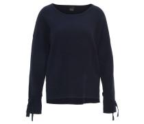 Pullover, Schleife am Ärmelsaum, Viskosemix, Blau
