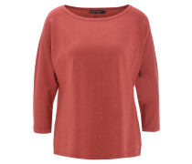 Pullover, 3/4-Arm, Teilungsnähte, Rot