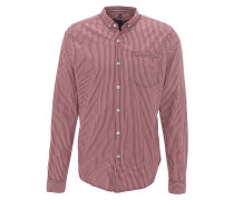 Freizeithemd, Button-Down-Kragen, Baumwolle, Rot