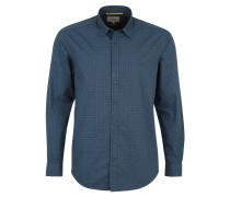 Hemd, Langarm, Allover-Print, Kent-Kragen