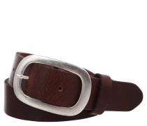 Ledergürtel, unifarben, Metallschließe