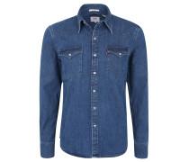 Freizeithemd, Regular Fit, Jeans-Stoff, Brusttaschen