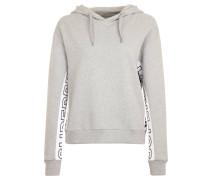 Sweatshirt, Kapuze, Seiten-Print, Baumwolle, Grau