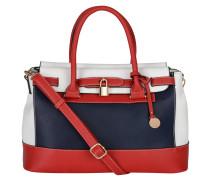 "Handtasche ""Nathalie"", dreifarbig, Leder-Optik, Blau"