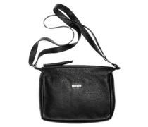 Nola 2, black, ladies' handbag grained, Schwarz