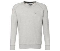 Sweatshirt, meliert, Rundhalsausschnitt, für Herren, Grau