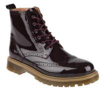 Stiefeletten, Lackleder, Boot-Design, Reißverschluss
