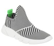 Sneaker low, elastischer Einstieg, zweifarbig