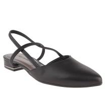 Sandaletten, Leder, spitz, elastische Riemchen