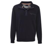 Sweatshirt, Baumwolle, wattierte Blenden, Blau