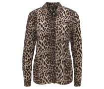 "Hemdbluse ""Gema"", Leoparden-Muster, Beige"