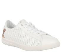 """Sneaker """"S-Olstice"""", Loch-Musterung, glänzender Stern-Aufnäher, Weiß"""