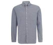 Hemd, Regular Fit, Button-Down-Kragen, für Herren, Grau