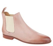 "Chelsea Boots ""Susan 10"", Leder, Used-Optik, Rosa"