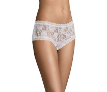 Panty, transparent, Spitzen-Design, Rosa