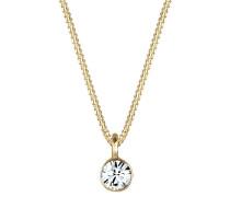 Halskette Solitär Anhänger Swarovski® Kristall 925 Silber