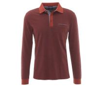 Poloshirt, fein gemustert, Brusttasche, Baumwolle, Rot