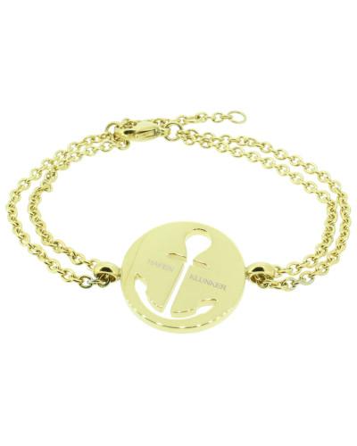 Anker Armband 108035 EdelstahlAnker ausgestanzt rund