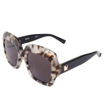 Sonnenbrille, Animal-Muster, verspiegelte Gläser