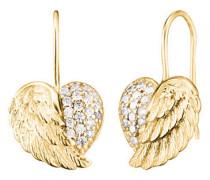 Ohrhänger Herz-Flügel vergoldet ERE-HEARTWING-ZI-G