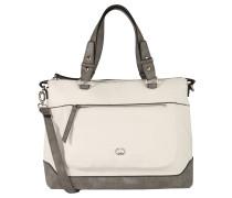 Handtasche, zweifarbiges Design, Reißverschlussfach, Weiß