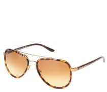 """Sonnenbrille """"MK5006"""", Havana-Look, Piloten-Stil, Doppelsteg"""