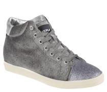 "Sneaker ""Kenda"", Samt, Sterne, Glitzer, Metallic-Effekt, Grau"