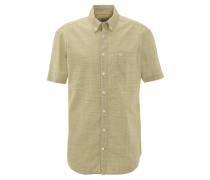 Freizeithemd, kleinkariert, Brusttasche, Button-Down-Kragen, Grün