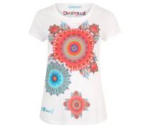 """T-Shirt """"Mary"""", Glitzerapplikationen, Print, Weiß"""
