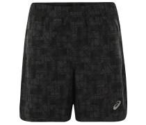 Shorts, atmungsaktiv, geometrisches Muster, für Herren, Grau