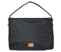 "Handtasche ""Elba"", unifarben, Nylondesign, Schultergurt, Schwarz"