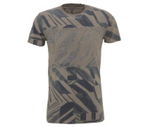 T-Shirt, Baumwolle, seitliche Schlitze, Kurzarm