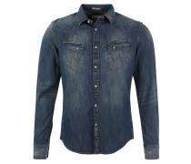 Jeans-Hemd, Brusttaschen, Blau