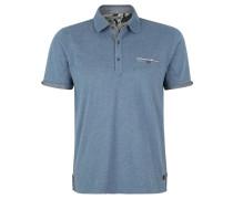 Poloshirt, Melange-Optik, Weicher Griff, Blau