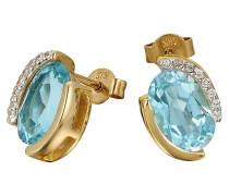 Ohrstecker Gold 375 Blautopas