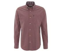 Freizeithemd, dicker Stoff, Baumwolle, Jeans-Optik, Rot