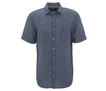 Freizeithemd, Comfort Fit, Kurzarm, Kent-Kragen, geometrisches Muster, Blau