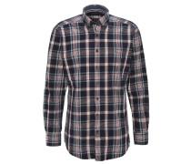 Hemd, gestreift, Button-Down-Kragen, reine Baumwolle, Blau