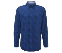 Hemd, Comfort Fit, strukturierte Oberfläche, Blau