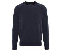 Pullover, meliert, used-Optik, Blau