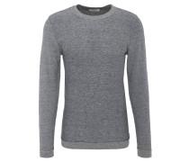 Pullover, Woll-Anteil, meliert, Rundhalsausschnitt