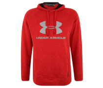 Sweatshirt, Kapuze, Flammgarn, Logo-Print, für Herren, Rot