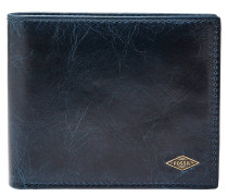 "Brieftasche ""Ryan RFID Large Coin Pocket Bifold"", Münzfach, Leder, Blau"