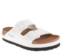 "Pantoletten ""Arizona"", Plateau-Sohle, Kork-Fußbett, Weiß"