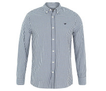 Freizeithemd, Slim Fit, Button-Down-Kragen, Blau