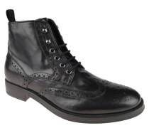 "Boots ""Blade"", geschnürt, Brogue-Stil, Schwarz"