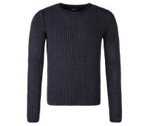 Pullover, Baumwolle, grober Strick, Blau